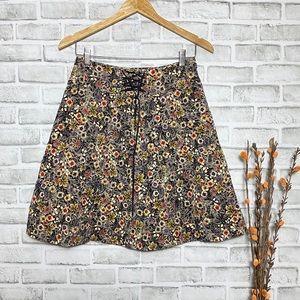 Anthropologie Edme & esyllte Floral Skater Skirt 2